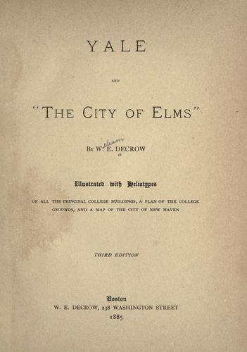 """Yale and """"The city of elms,"""""""