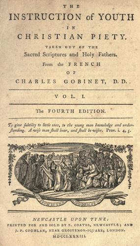 The instruction of youth in Christian piety