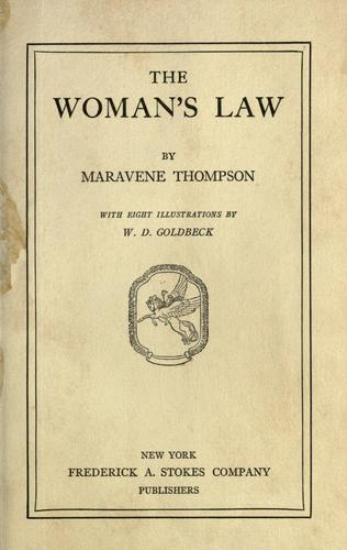The woman's law by Maravene Thompson