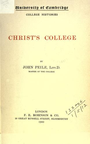 Christ's college by John Peile