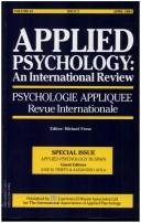 APPLIED PSYCHOLOGY IN SPAIN (Vol. 43, Issue 2, April 1994) by Prieto/Avi